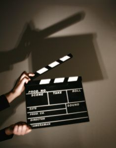clapper board for movies