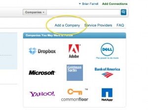 linked in company tab