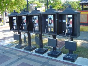 5 payphones